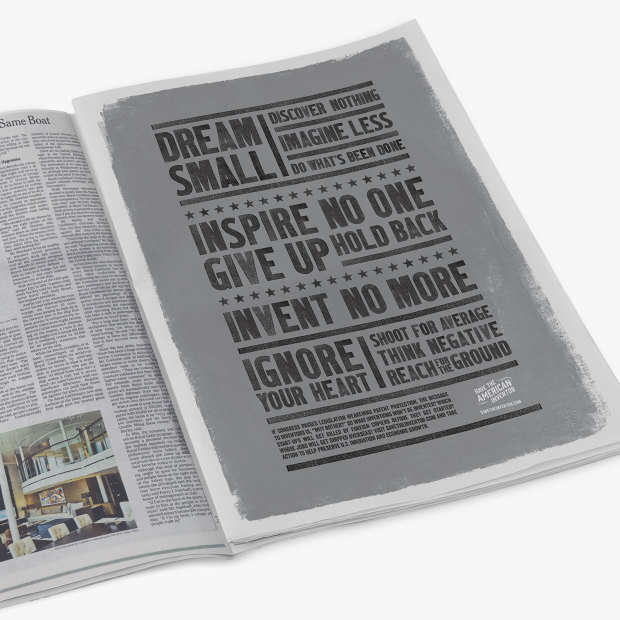 Dream Small Half Page Newspaper Ad